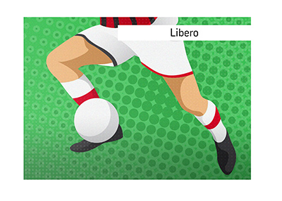 The libero position in soccer is explained and illustrated.