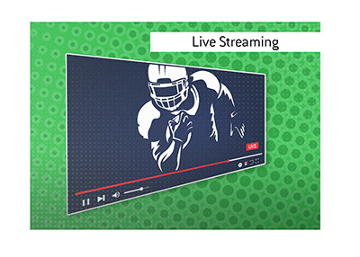 Live American football streaming is available via the Bet365 client for selected audiences.
