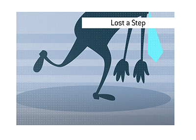 The meaning of the term Lost a Step when it comes to sports and life in general is explained.