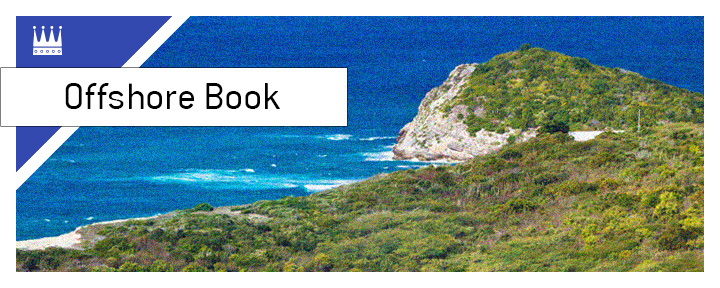 The King explains the term Offshore Sportsbook.  In photo - Antigua beach birds eye view.