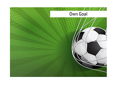 What is the meaning of the term own goal when it comes to the sport of soccer?  The King explains. - Illustration - Goal in net.
