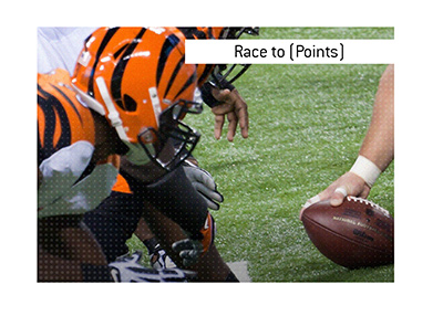 The meaning and an example of the sports betting term Race to Points is explained as it applies to American football and basketball.