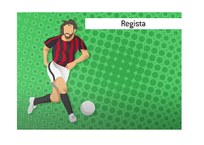 Football dictionary: Regista.  What is the meaning of the term?  Illustration.