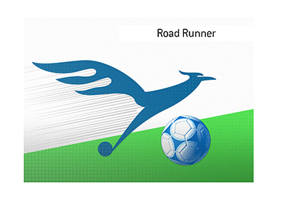 An illustration of the term Road Runner as it pertains to the game of soccer / football.  What type of a player is it?