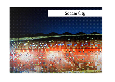 Iconic South African stadium Soccer City - Dictionary entry.  Meaning of the term.