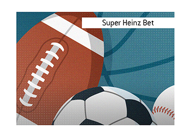 The King explains the meaning of Super Heinz Bet when it comes to wagering on sports.  Illustration.