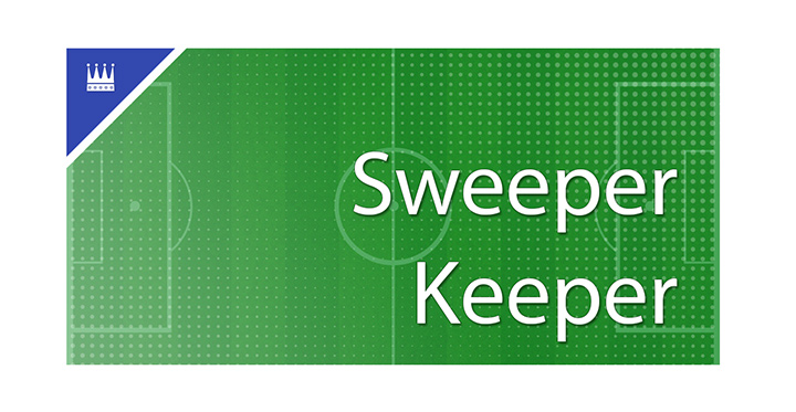The Sports King defines the role of a sweeper keeper in the game of football.  Examples are provided.