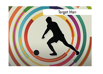What are the duties of the Target Man player position in the sport of football?  Explained.