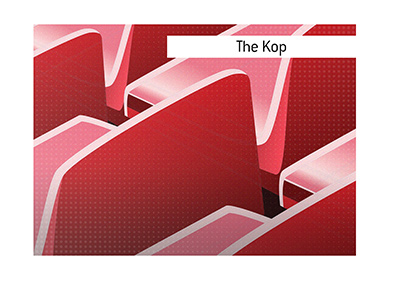 The meaning and the origin of the term The Kop is explained.  It is the Liverpool famous stand, of course.
