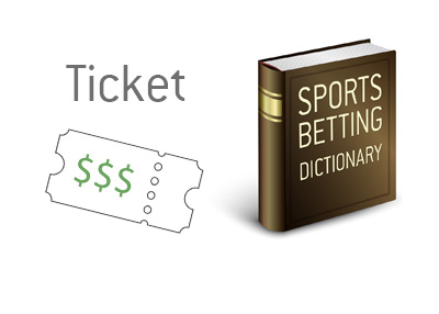 The definition and drawing of a betting ticket / slip.  The Sports King Dictionary.