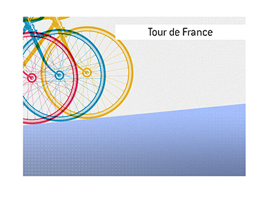 Tour de France is one of the most famous bicycle races in the world.