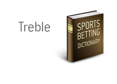 Definition of the term Treble when it comes to sportsbetting - Illustration