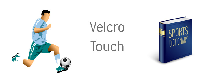 The player successfully entraps the ball with perfect first touch control - Velcro Touch - Sports definition and meaning - Soccer / Football.