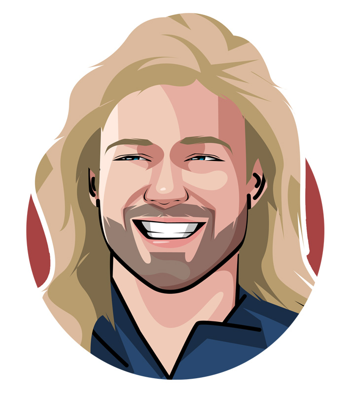 Andre Agassi profile illustration.  Avatar.  Drawing.  Art.  Nicknamed the Punisher - One of the great American tennis players.