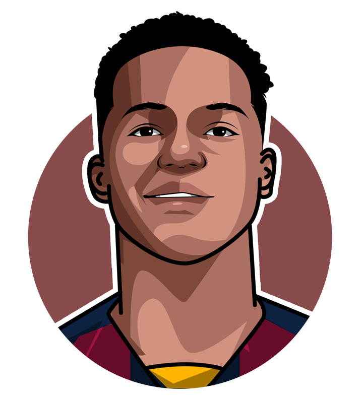 Ansu Fati, Barcelona FC player.  Nickname.  Illustration.  Art.  Profile.