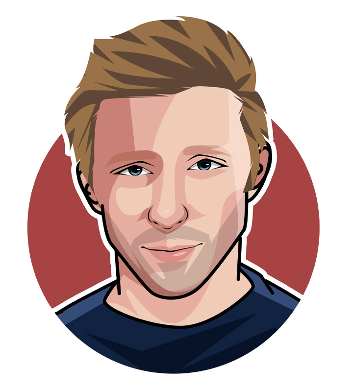 Boom Boom Boris Becker - Illustration - Profile drawing.  German tennis superstar of the 1980s.  Avatar.  Art.