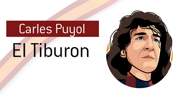 Carles Puyol is a true Barcelona FC icon.  The Spanish national team icon as well.  Illustration / profile.  El Tiburon.