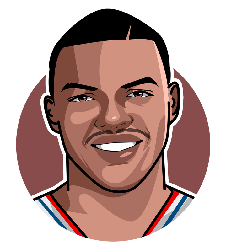 Sir Charles Barkley illustration.  Art piece.  Profile drawing.  Avatar.  Basketball star of the past.  One of the best.