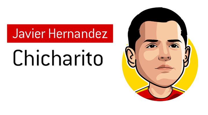 One of the best football players to come out of Mexico.  The amazing Javier Hernandez, also known as Little Pea - Chicharito.  Profile illustration.