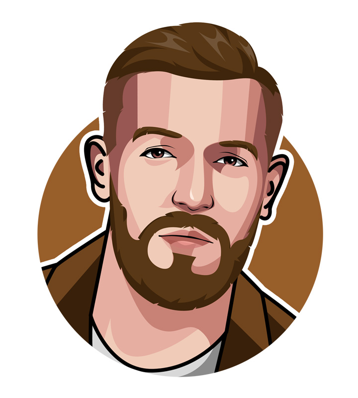 Conor McGregor profile illustration.  Drawing.  Art.  The Notorious nickname explained.