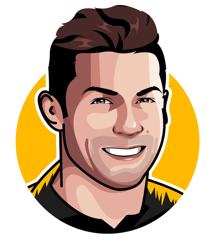 Cristiano Ronaldo - Profile illustration / drawing.  Manchester United, Real Madrid and Juventus star.  The CR7 - Portugal national.