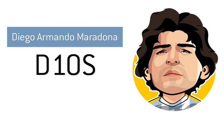 Arguably the best football player of all time - The amazing Diego Armando Maradona, also known as D10S in his native Argentina.