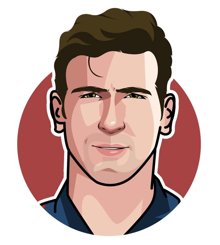 Profile illustration of King Eric Cantona - Footballer.  Avatar.  Drawing.