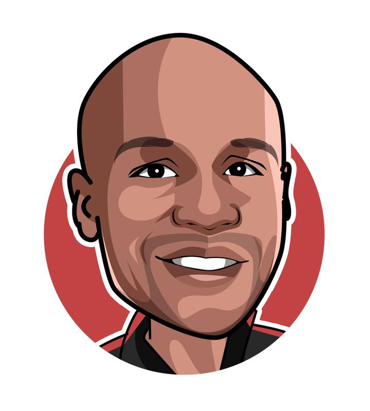 Floyd Mayweather - Nickname: Money, Profile illustration / drawing.