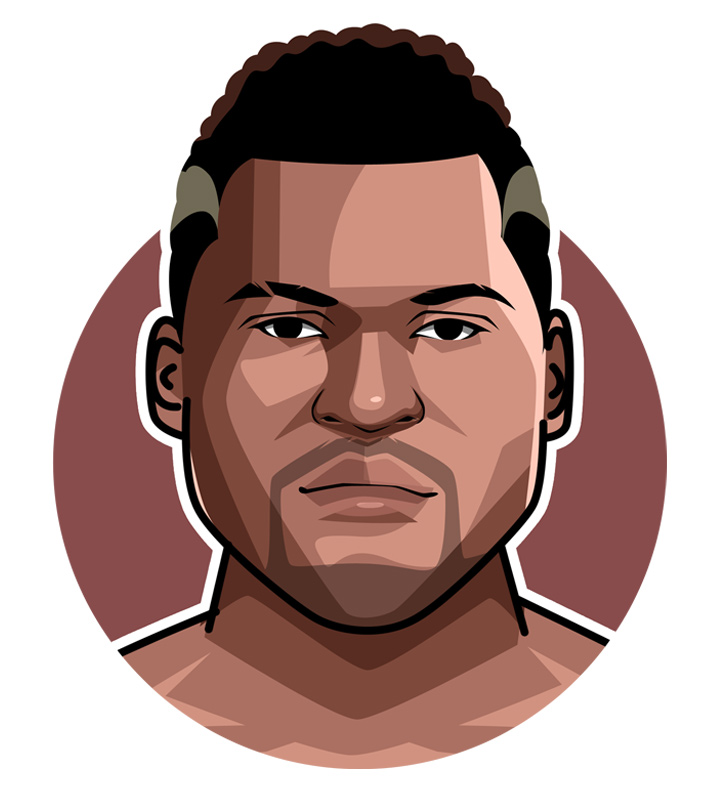 Francis Ngannou profile drawing.  Illustration.  Art piece.  The Predator.  MMA Fighter.