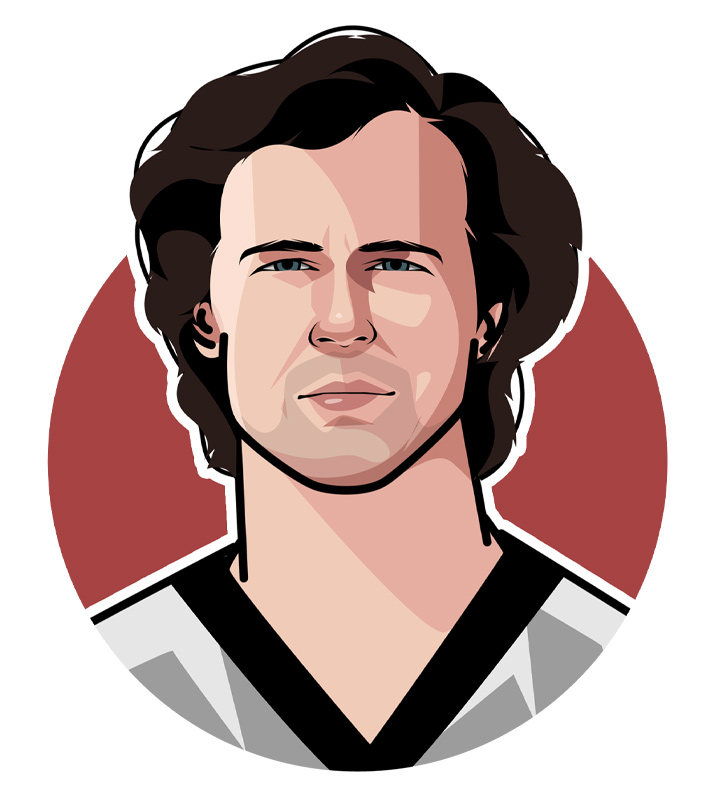 Franz Beckenbauer - Illustration.  Porfile drawing.  Avatar art.  One of the German football greats.  Der Kaiser.