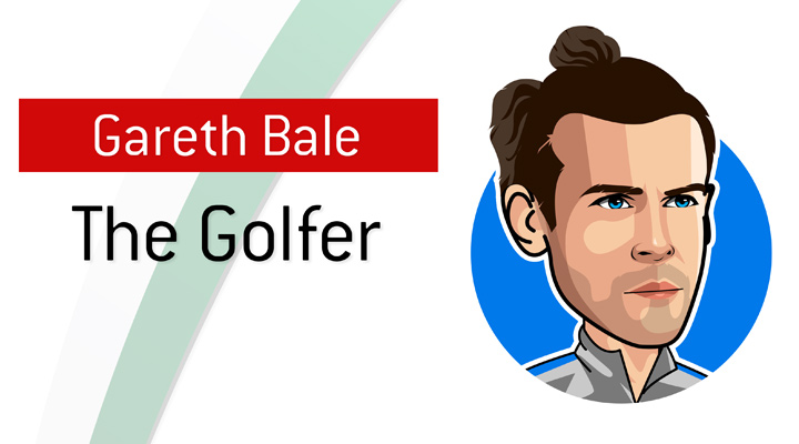 The Golfer - Nickname for Gareth Bale during his time at Real Madrid. - Profile, illustration.