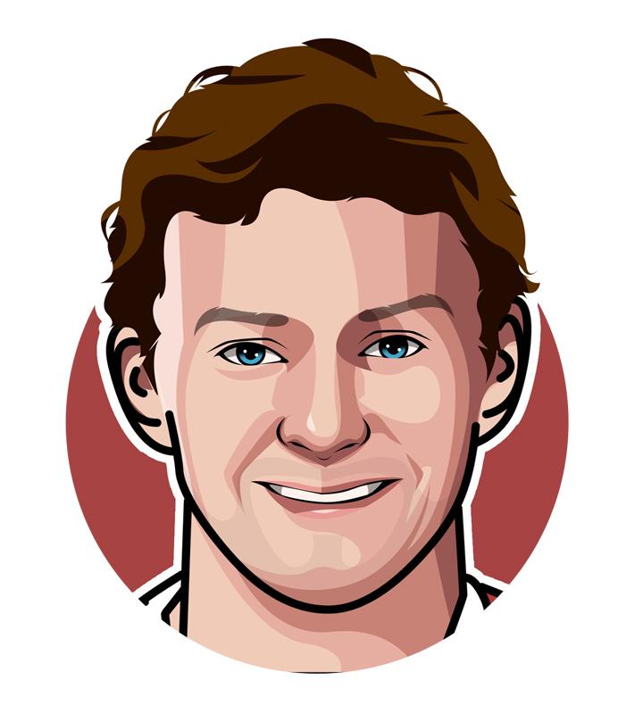 Gunnar Solskjaer profile drawing.  Art.  Illustration.  Football player turned manager.  Manchester United.