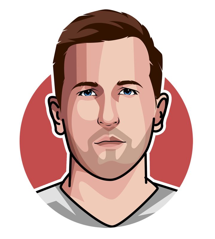 One of the best striker in the English Premier League - Harry Kane - Art. Drawing. Illustration.  Profile.