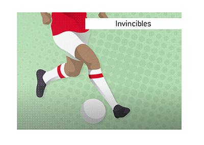 Arsenal FC Invincibles.  Featuring Thierry Henry.
