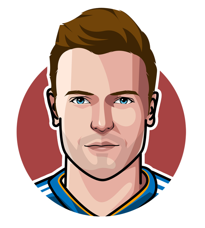 Jamie Vardy illustration.  Art.  Drawing.  Avatar.  Player profile.  Leicester Blue.