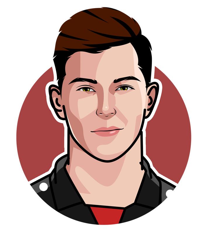 Kai Havertz profile illustration - Football star - Art.  Digital drawing.  Avatar.