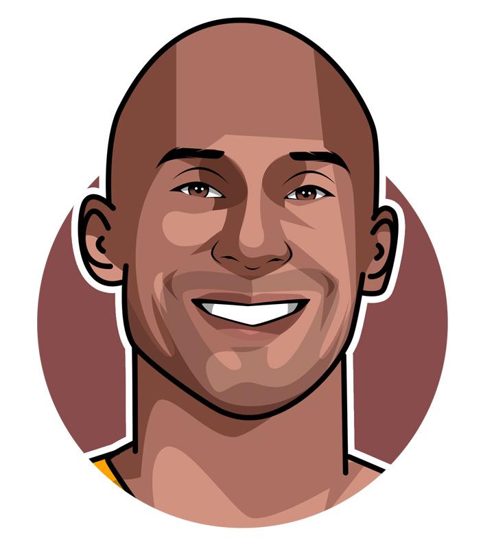 Kobe Bryant illustration.  Art.  Digital drawing.  The Black Mamba - Basketball star.