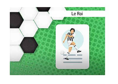 A football legend - Michel Platini earned his nickname Le Roi for his outstanding performances on the soccer pitch.
