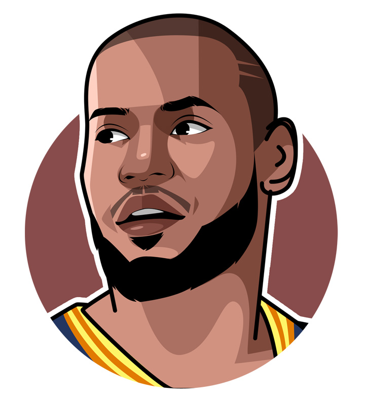 Lebron James - Profile illustration.  Basketball superstar.  Drawing.  Digital Art.  Avatar.