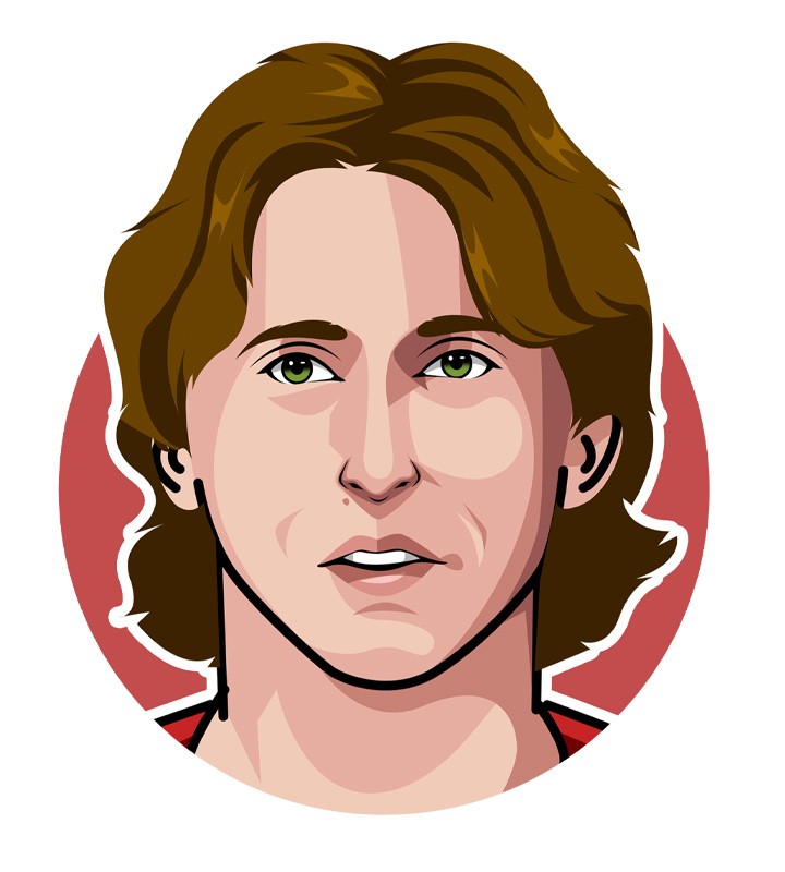 Profile drawing - Luka Modric - Digital art.  Illustration.  Croatia.  Real Madrid.