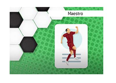 The Barcelona FC legend - Andres Iniesta, nicknamed Maestro.