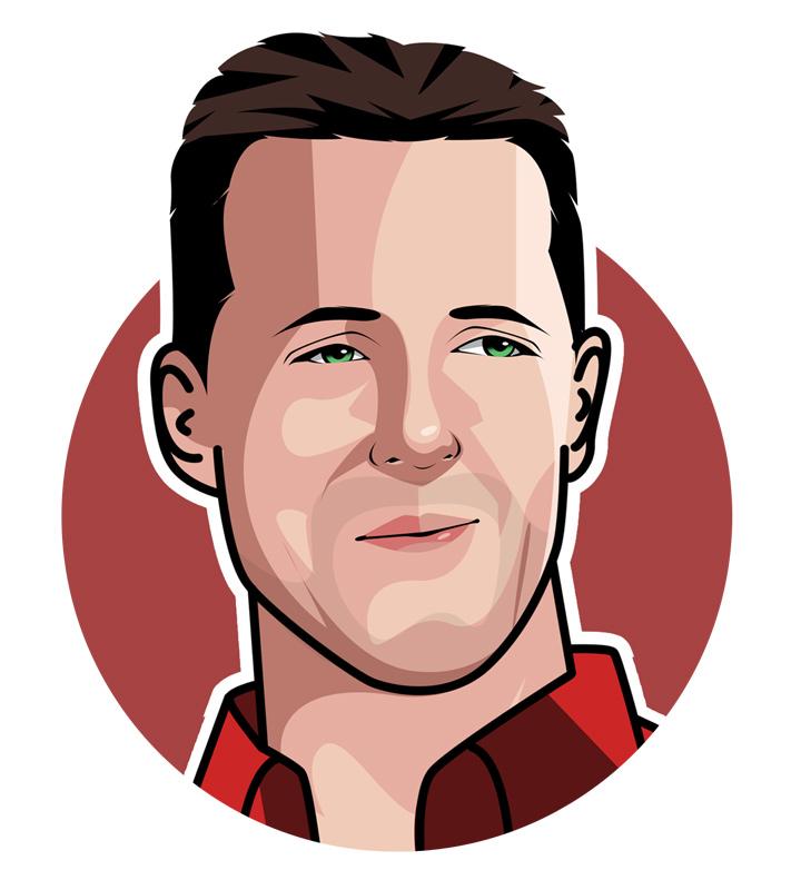 Michael Schumacher illustration.  Profile drawing.  Avatar picture of the Red Baron.
