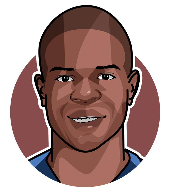 NGolo Kante profile drawing.  The Rat.  Illustration.  Avatar.  Art.  Chelsea and France star midfielder.