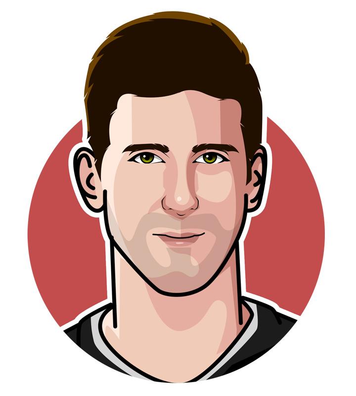 Novak Djokovic profile art work.  Illustration.  Djoker Nole.  Drawing.