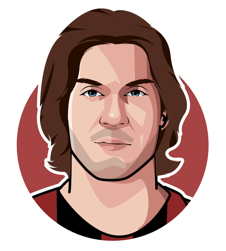 Paolo Maldini - Italian football star of the past - Illustration - Drawing - Profile - Avatar.