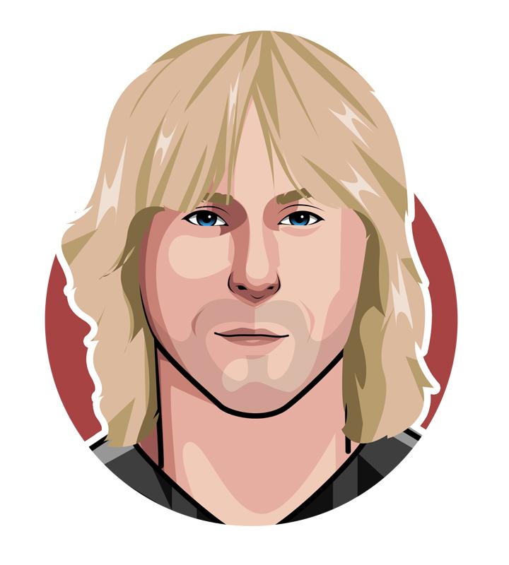 Pavel Nedved profile illustration.  Digital art.  Drawing.