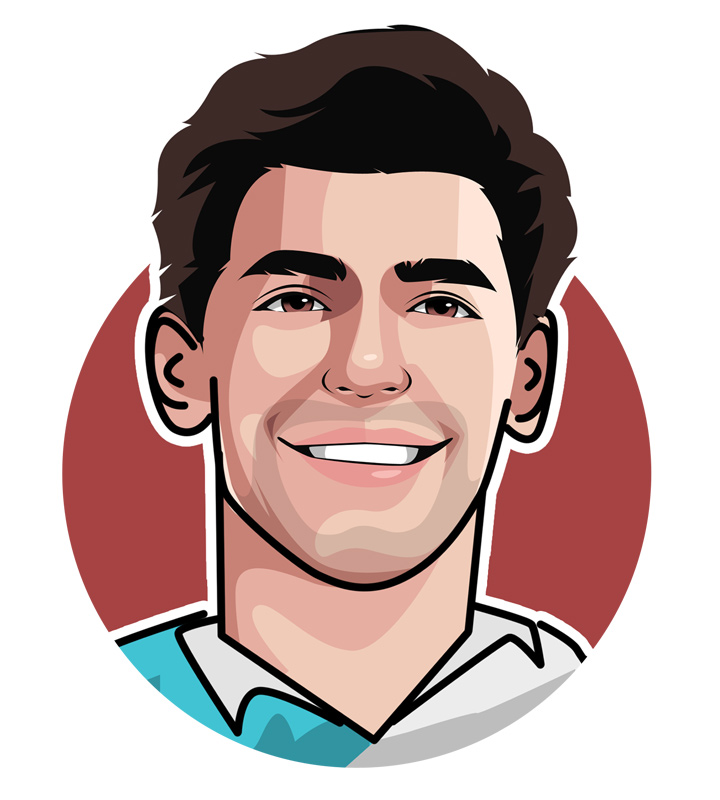 Petros Pete Sampras - Illustration.  Profile drawing.  Art.  Avatar.  One of the legends of the sport of tennis.  The best of his generation.