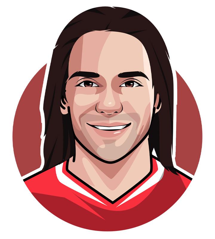 Illustration of Radamel Falcao aka El Tigre - The Colombian soccer superstar.  Avatar.  Profile drawing.  Art.