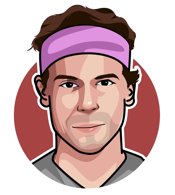 Profile illustration of Tennis legend Rafael Nadal - The King of Clay - Drawing.  Art.  Digital avatar.