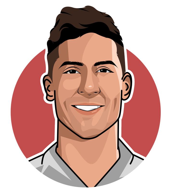 Raphael Varane profile drawing.  Illustration.  Art.  The Champions League Varane.  France national team and Real Madrid star.